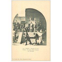 carte postale ancienne 28 DREUX. Chapelle St-Louis. Vitrail. Ecce homo