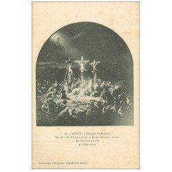 carte postale ancienne 28 DREUX. Chapelle St-Louis. Vitrail. Les morts ressuscitent