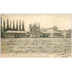 carte postale ancienne 28 DREUX. Collège Filles et Bains Municipaux