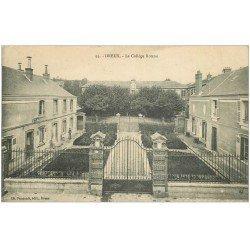 carte postale ancienne 28 DREUX. Collège Rotrou 1913 jardinier
