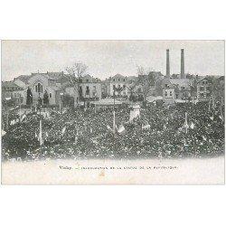 carte postale ancienne 03 VICHY. Inauguration Statue de la République