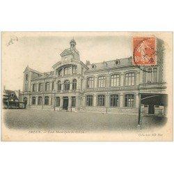 carte postale ancienne 28 DREUX. Ecole de Garçons 1910
