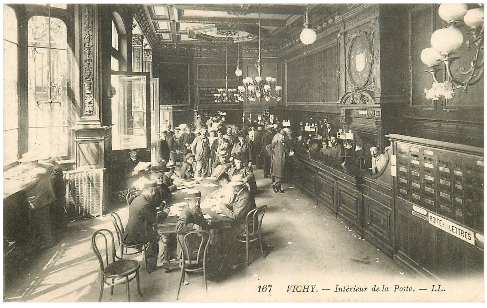 03 vichy int rieur de la poste rare 1915 boite aux. Black Bedroom Furniture Sets. Home Design Ideas