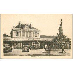 carte postale ancienne 03 VICHY. La Gare