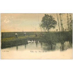 carte postale ancienne 03 VICHY. La Mare aux Oies vers 1900...