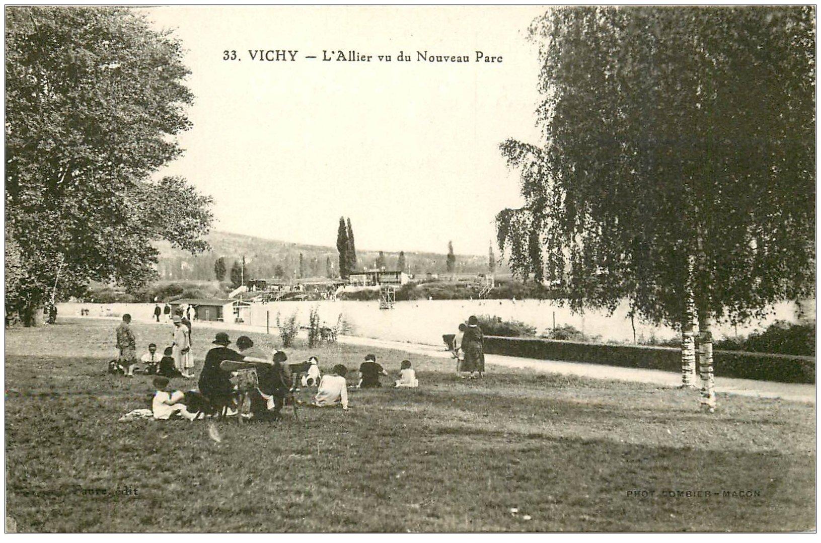 carte postale ancienne 03 VICHY. L'Allier. Nouveau Parc