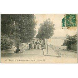 carte postale ancienne 03 VICHY. L'Allier. Promenade vers 1912