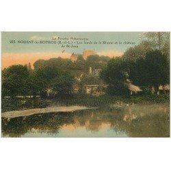 carte postale ancienne 28 NOGENT-LE-ROTROU. Château et Rhône