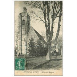 carte postale ancienne 28 NOGENT-LE-ROTROU. Eglise Saint-Laurent 1911