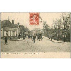 carte postale ancienne 28 NOGENT-LE-ROTROU. L'Avenue de la Gare. Bureau de l'octroi 1921