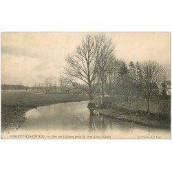 carte postale ancienne 28 NOGENT-LE-ROTROU. L'Huisne 1905
