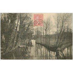 carte postale ancienne 28 NOGENT-LE-ROTROU. L'Huisne 1906