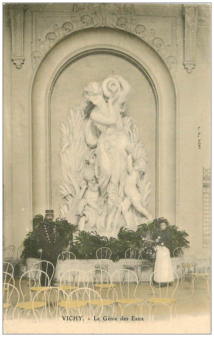 carte postale ancienne 03 VICHY. Le Génie des Eaux