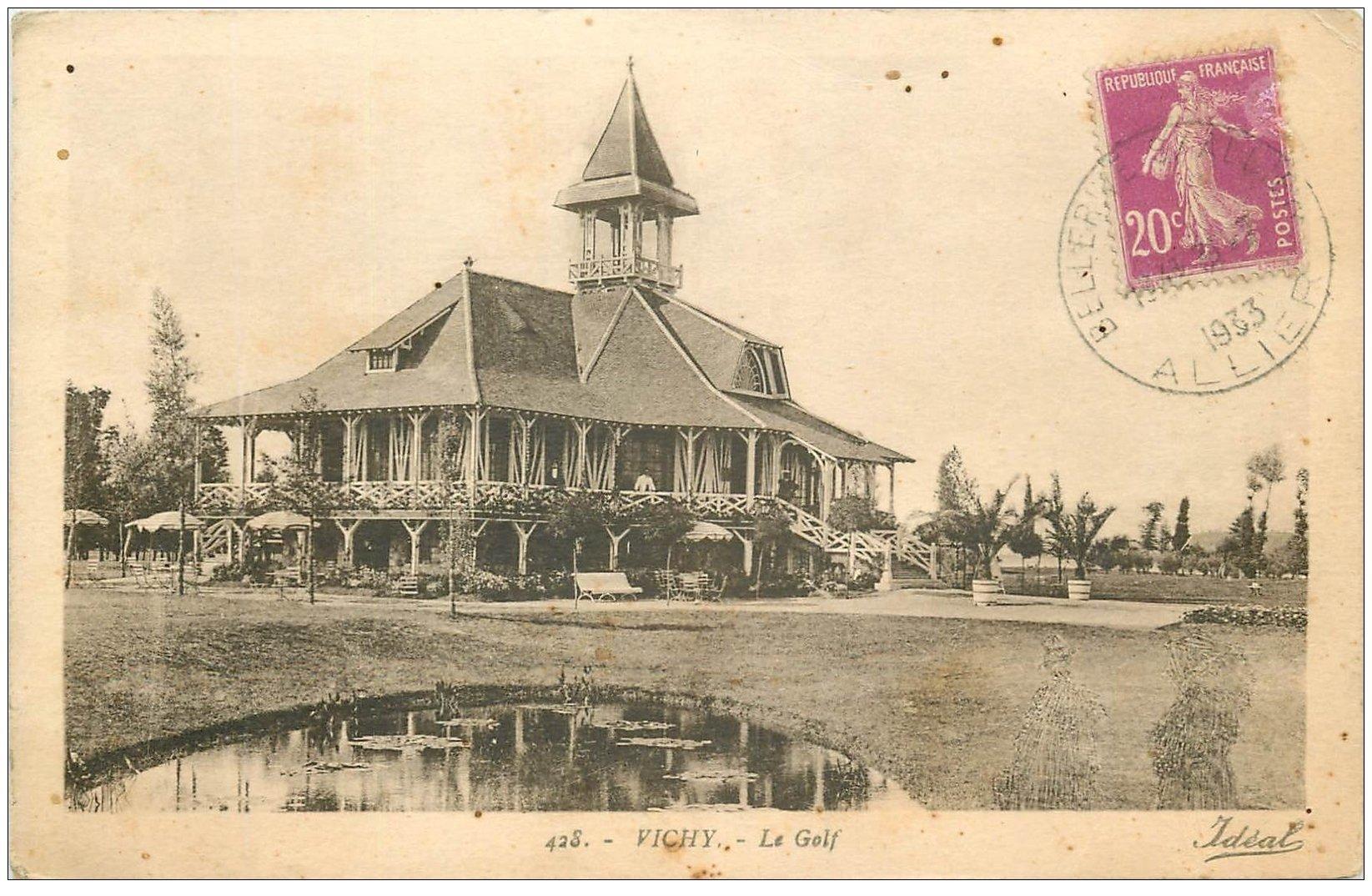 carte postale ancienne 03 VICHY. Le Golf 1933