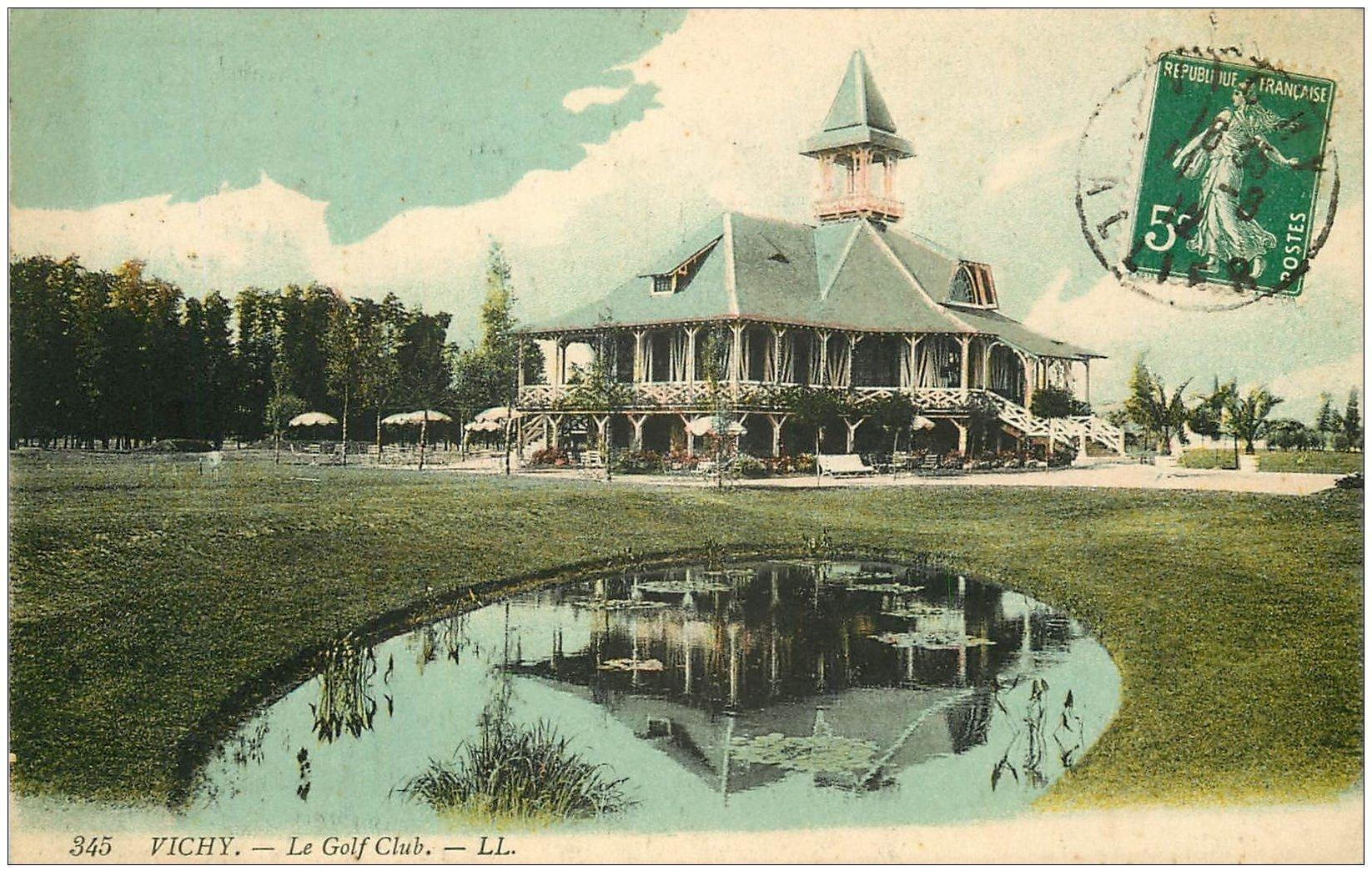 carte postale ancienne 03 VICHY. Le Golf Club 1912