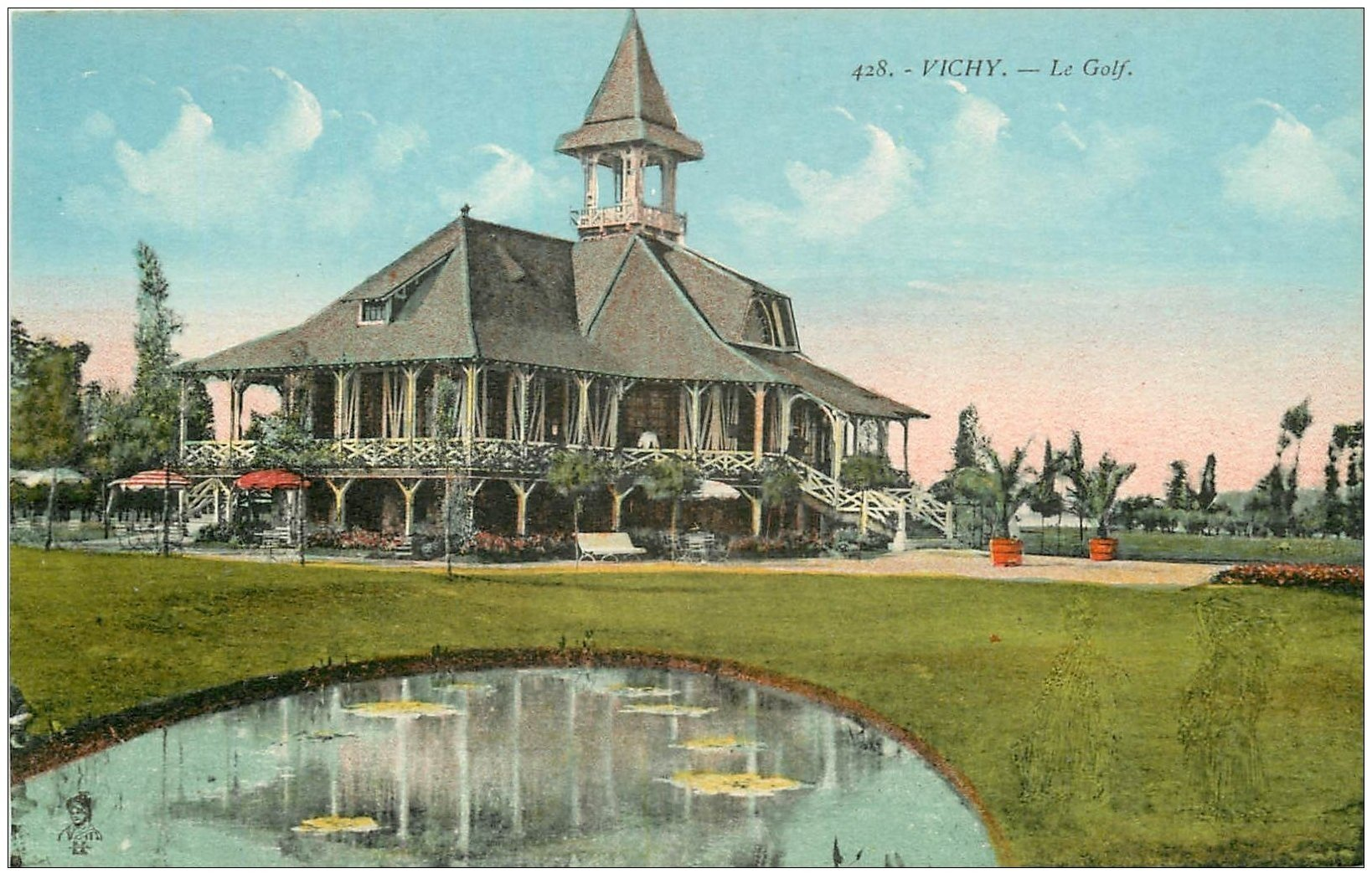 carte postale ancienne 03 VICHY. Le Golf Club bis...