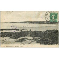 carte postale ancienne 29 AUDIERNE. La Plage 1915
