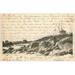 carte postale ancienne 29 BEG MEIL. Pointe du Sémaphore 1902