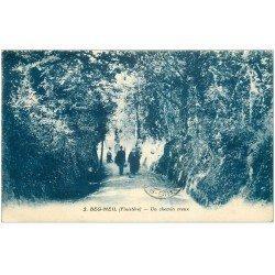 carte postale ancienne 29 BEG MEIL. Un Chemin Creux 1931