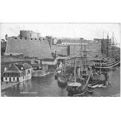 carte postale ancienne 29 BREST. Château et Voiliers