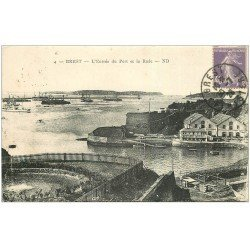 carte postale ancienne 29 BREST. Entrée du Port et Rade 1928