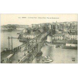 carte postale ancienne 29 BREST. Grand Pont et Avant-Port