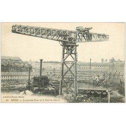 carte postale ancienne 29 BREST. Grande Grue Port de Guerre