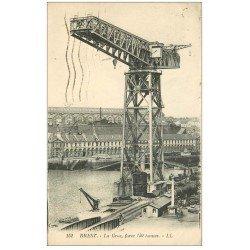carte postale ancienne 29 BREST. Grande Grue Port de Guerre 1923