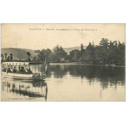 carte postale ancienne 01 NANTUA. Bateau Automobile Ville de Nantus 1922