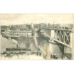 carte postale ancienne 29 BREST. Le Pont National n°17