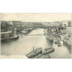 carte postale ancienne 29 BREST. Le Port de Guerre et Pont n°11