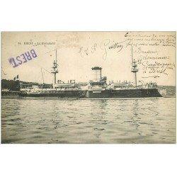 carte postale ancienne 29 BREST. Le Redoutable 1907. Navire de Guerre
