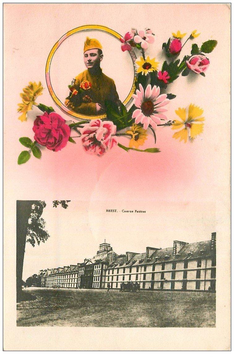 carte postale ancienne 29 BREST. Militaire et Caserne Fautras 1932