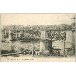 carte postale ancienne 29 BREST. Pont National et sous-passerelle en bois