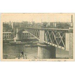 carte postale ancienne 29 BREST. Pont Tournant 1916