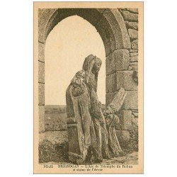 carte postale ancienne 29 BRIGNOGNAN. Arc Triomphe Rohan Statue Arvor