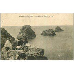 carte postale ancienne 29 CAMARET-SUR-MER. Balcon et Tas de Pois (pli coin gauche)...