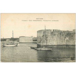 carte postale ancienne 29 CONCARNEAU. Arrière-Port Citadelle