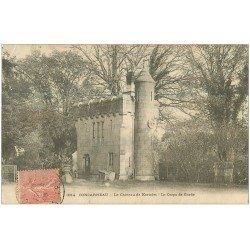 carte postale ancienne 29 CONCARNEAU. Château de Keriolet Corps de Garde 1905 (défaut)