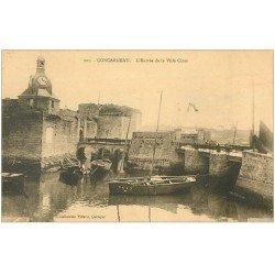 carte postale ancienne 29 CONCARNEAU. Entrée Ville Close 1938
