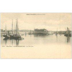 carte postale ancienne 29 CONCARNEAU. La Ville Close vers 1900