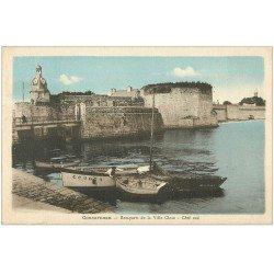 carte postale ancienne 29 CONCARNEAU. Remparts Ville Close.