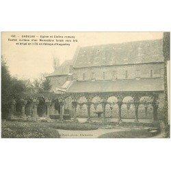 carte postale ancienne 29 DAOULAS. Eglise et Cloître