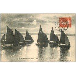 carte postale ancienne 29 DOUARNENEZ. Bâteaux lieu de Pêche 1911