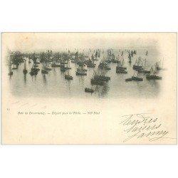 carte postale ancienne 29 DOUARNENEZ. Départ pour la Pêche 1902