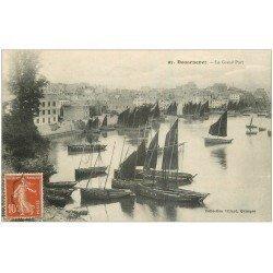 carte postale ancienne 29 DOUARNENEZ. Grand port 1912