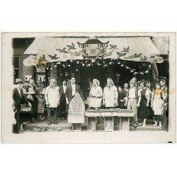 carte postale ancienne 29 DOUARNENEZ. Rare magasin de conserves. Carte Photo
