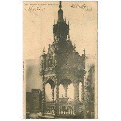 carte postale ancienne 29 MORLAIX. Baptistère Eglise de Guimiliau 1903