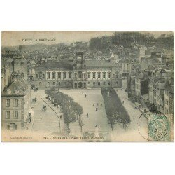 carte postale ancienne 29 MORLAIX. Mairie Place Thiers 1906