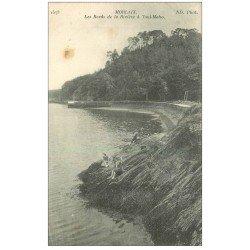carte postale ancienne 29 MORLAIX. Pêcheuses Rivière à Toul-Maho 1917
